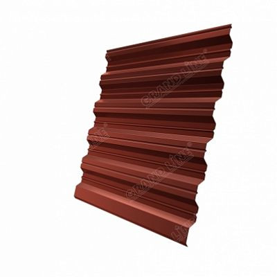 Профнастил С35 Grand Line PE, цвет RAL 8004 коричневая медь