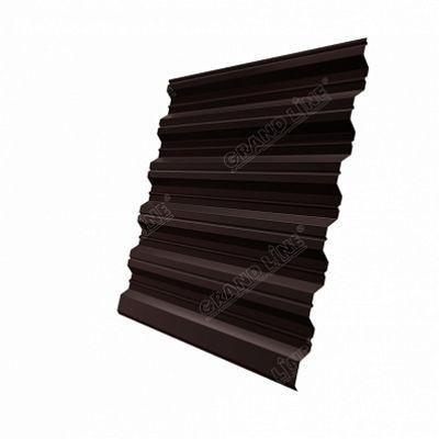 Профнастил С35 Grand Line двухсторонний полиэстер, цвет RAL 8017 коричневый шоколад