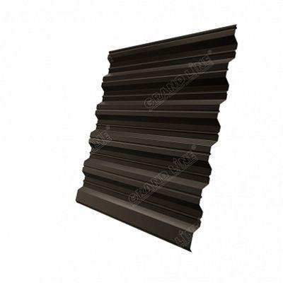 Профнастил С35 Grand Line PE, цвет RR 32 темно-коричневый