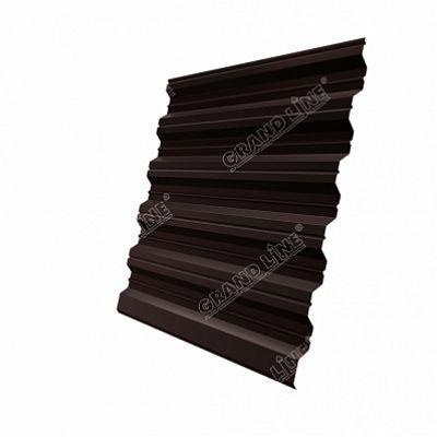 Профнастил С35 Grand Line Atlas, цвет RAL 8017 коричневый шоколад