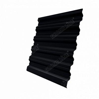 Профнастил С35 Grand Line Quarzit lite, цвет RAL 9005 черный темный