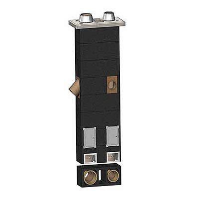 Керамическиий дымоход Schiedel Uni D 16-18 см, 11 п.м. двухходовой с вент. каналом
