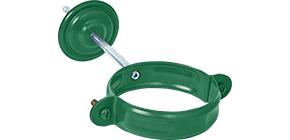 Соединитель желоба с резиновым уплотнителем «Аквасистем» 100x150 цвет зелёный RAL 6005