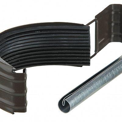 Соединитель желоба с резиновым уплотнителем «Аквасистем» 100x150 цвет темно-коричневый RR 32
