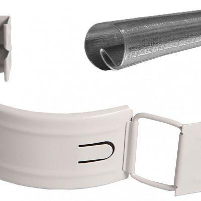 Соединитель желоба с резиновым уплотнителем «Аквасистем» 90x125 цвет белый RR 20