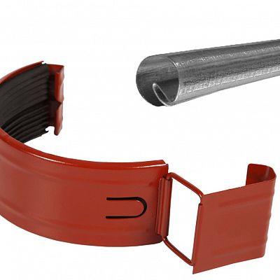 Соединитель желоба с резиновым уплотнителем «Аквасистем» 100x150 цвет красный RR 29