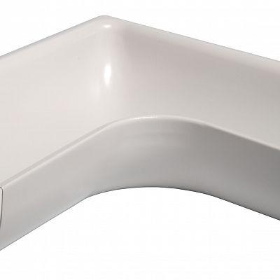 Угол желоба наружный 90° «Аквасистем» 90x125 цвет белый RR 20