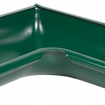 Угол желоба внутренний 90° «Аквасистем» 100x150 цвет зелёный RAL 6005