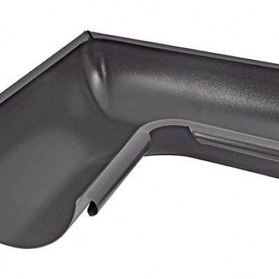 Угол желоба внутренний 90° «Аквасистем» 90x125 цвет темно-серый RR 23