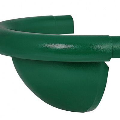 Заглушка полукруглая «Аквасистем» 100x150 цвет зелёный RAL 6005