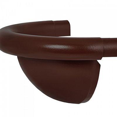Заглушка полукруглая «Аквасистем» 100x150 цвет коричневый RAL 8017