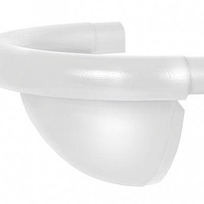 Заглушка полукруглая «Аквасистем» 90x125 цвет белый RR 20