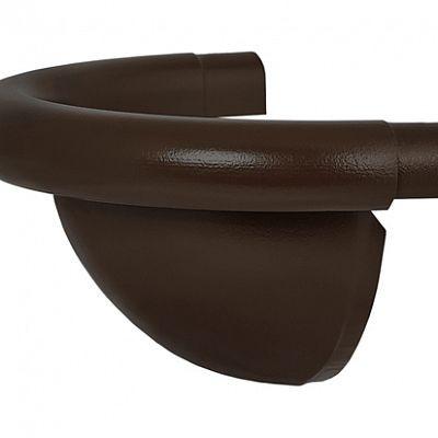 Заглушка полукруглая «Аквасистем» 90x125 цвет темно-коричневый RR 32