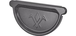 Заглушка универсальная с резиновым уплотнителем «Аквасистем» 100x150 цвет темно-серый RR 23