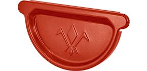 Заглушка универсальная с резиновым уплотнителем «Аквасистем» 90x125 цвет красный RR 29