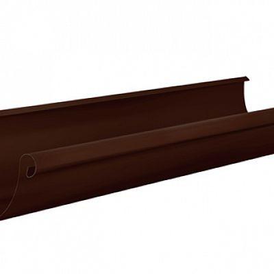 Желоб водосточный Аквасистем 100x150 цвет коричневый RAL 8017