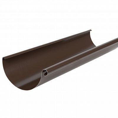 Желоб водосточный Аквасистем 90x125 цвет коричневый RAL 8017