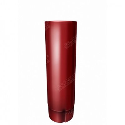 Круглая труба соединительная, 1м. 125x90 мм. Grand Line, цвет Ral 3011 коричнево-красный
