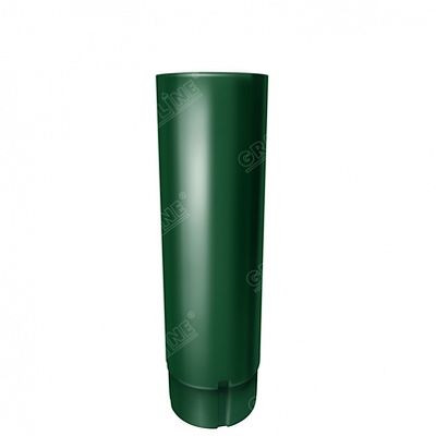 Круглая труба, 3 м. 125x90 мм. Grand Line, цвет Ral 6005 зеленый мох