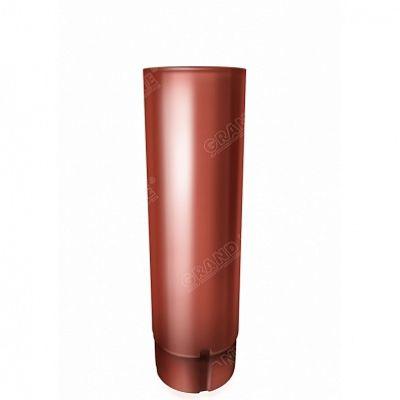 Круглая труба, 3 м. 125x90 мм. Grand Line, цвет Ral 8004 коричневая медь