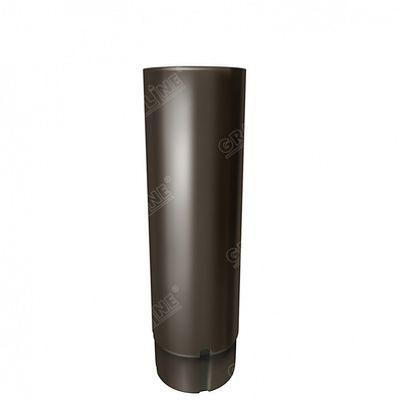 Круглая труба, 3 м. 125x90 мм. Grand Line, цвет Ral 9005 черный темный