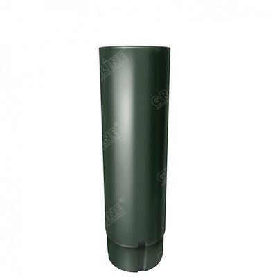 Круглая труба, 3 м. 125x90 мм. Grand Line, цвет RR 11 темно-зеленый