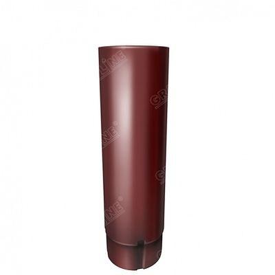 Круглая труба, 3 м. 125x90 мм. Grand Line, цвет RR 29 красный