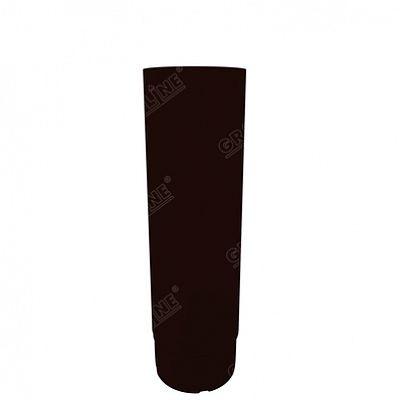 Круглая труба соединительная, 1 м. 150x100 мм. Grand Line, цвет RR 32 темно-коричневый