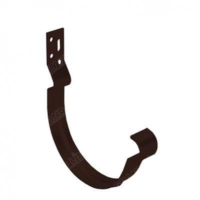 Крюк короткий (полоса) 150x100 мм. Grand Line, цвет Ral 8017 коричневый шоколад