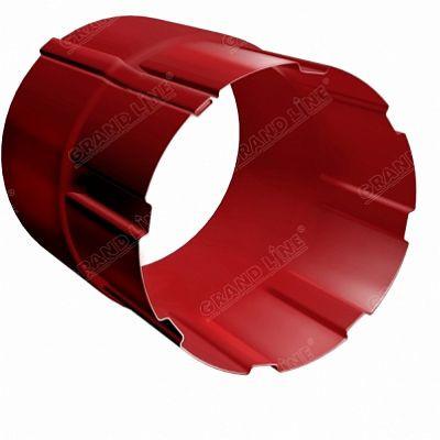 Соединитель трубы 90 мм. Grand Line, цвет Ral 3011 коричнево-красный
