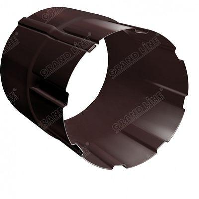 Соединитель трубы 100 мм. Grand Line, цвет Ral 8017 коричневый шоколад