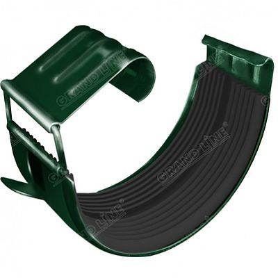 Соединитель желоба 125x90 мм. Grand Line, цвет Ral 6005 зеленый мох