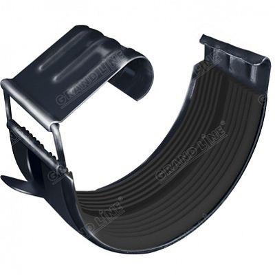 Соединитель желоба 125x90 мм. Grand Line, цвет Ral 7024 серый графит