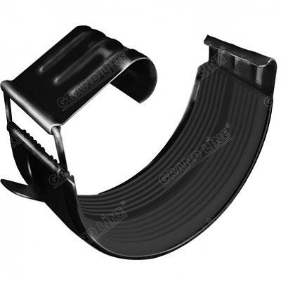 Соединитель желоба 125x90 мм. Grand Line, цвет Ral 9005 черный темный