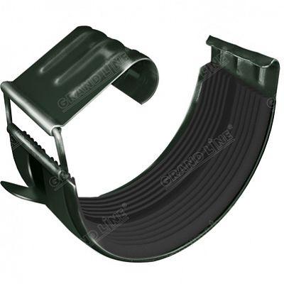 Соединитель желоба 125x90 мм. Grand Line, цвет RR 11 темно-зеленый