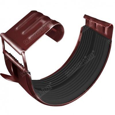 Соединитель желоба 125x90 мм. Grand Line, цвет RR 29 красный