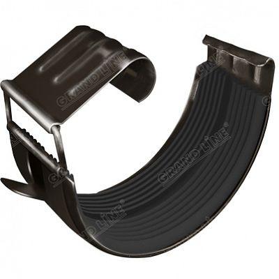 Соединитель желоба 125x90 мм. Grand Line, цвет RR 32 темно-коричневый