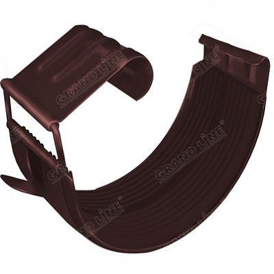 Соединитель желоба 150x100 мм. Grand Line, цвет Ral 8017 коричневый шоколад