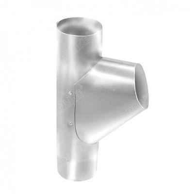 Тройник трубы 125x90 мм. Grand Line, цвет Ral 9003 белый