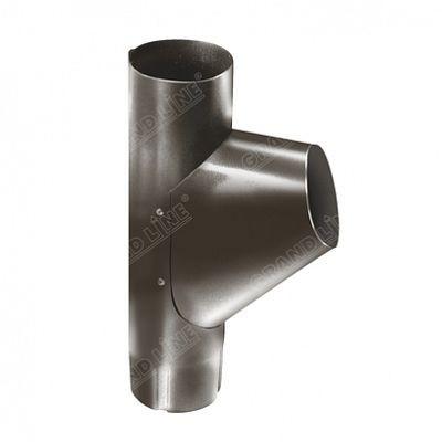 Тройник трубы 125x90 мм. Grand Line, цвет RR 32 темно-коричневый