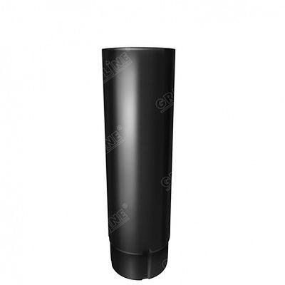 Круглая труба соединительная, 1м. 125x90 мм. Grand Line, цвет Ral 9005 черный темный