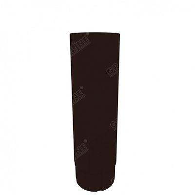Круглая труба соединительная, 1м. 150x100 мм. Grand Line, цвет Ral 8017 коричневый шоколад