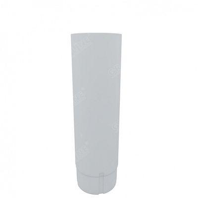 Круглая труба соединительная, 1м. 150x100 мм. Grand Line, цвет Ral 9003 белый
