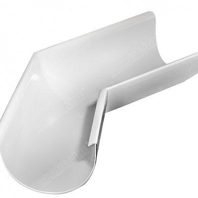 Угол желоба внешний 135° 125x90 мм. Grand Line, цвет Ral 9003 белый
