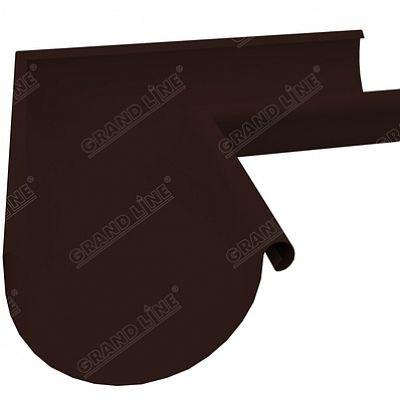 Угол желоба внешний 90° 150x100 мм. Grand Line, цвет Ral 8017 коричневый шоколад