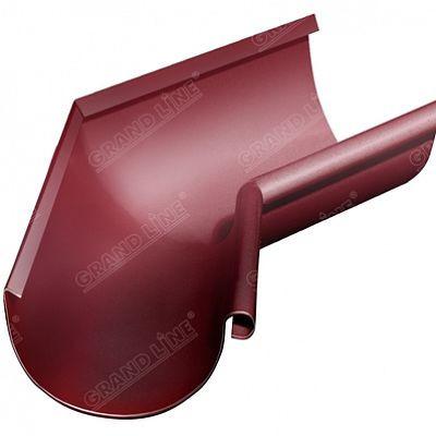 Угол желоба внутренний 135° 125x90 мм. Grand Line, цвет Ral 3005 красное вино