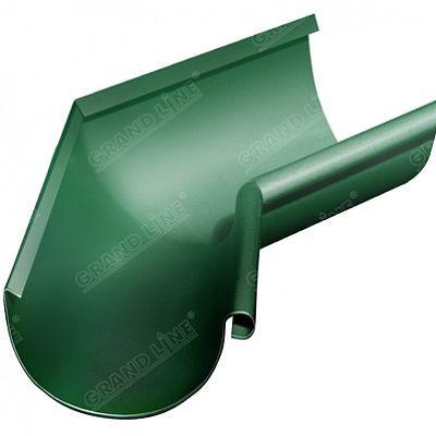 Угол желоба внутренний 135° 125x90 мм. Grand Line, цвет Ral 6005 зеленый мох