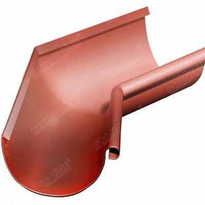 Угол желоба внутренний 135° 125x90 мм. Grand Line, цвет Ral 8004 коричневая медь