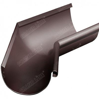 Угол желоба внутренний 135° 125x90 мм. Grand Line, цвет Ral 8017 коричневый шоколад