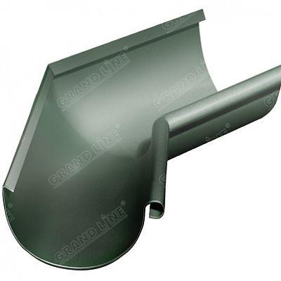 Угол желоба внутренний 135° 125x90 мм. Grand Line, цвет RR 11 темно-зеленый